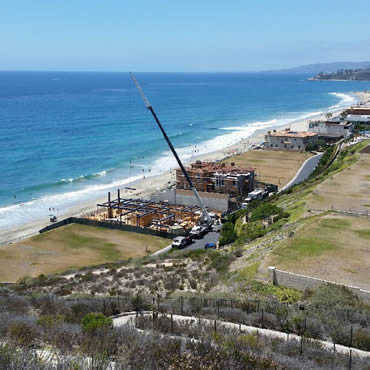 Crane services beach front property