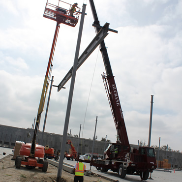 Lifting a beam